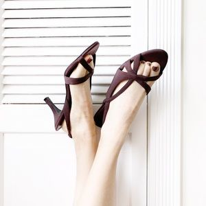 Naturalizer Brown Prissy Sling Back Heels